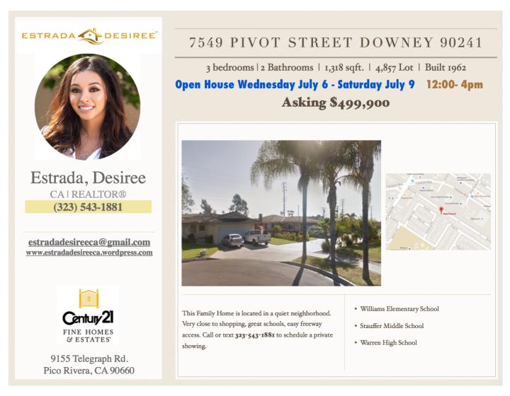 Open House in Downey,CA